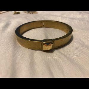 Gold brass clip bracelet